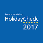 2017 - HolidayCheck: Recommended on HolidayCheck 2017