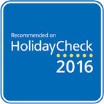 2016 - HolidayCheck: Recommended on HolidayCheck
