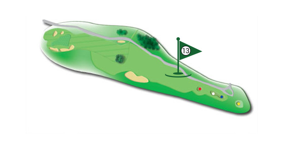 Details of the hole 13