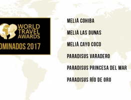 Six Meliá Cuba hotels nominated at the World Travel Awards 2017