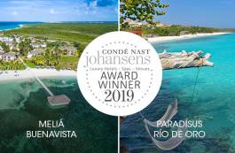 News on Hotels in Cuba - Two Meliá Cuba hotels are winners in the Condé Nast Johansens Awards for Excellence 2019