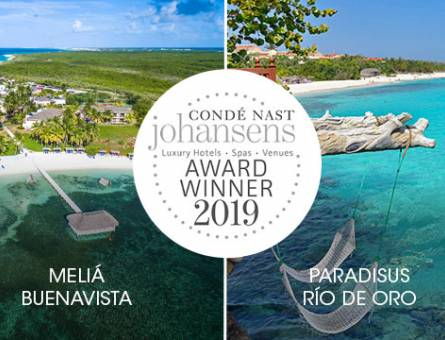 Two Meliá Cuba hotels are winners in the Condé Nast Johansens Awards for Excellence 2019