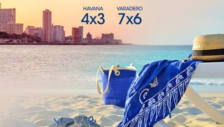 Offers 4x3 in Havana and 7x6 in Varadero... the last night is on us!