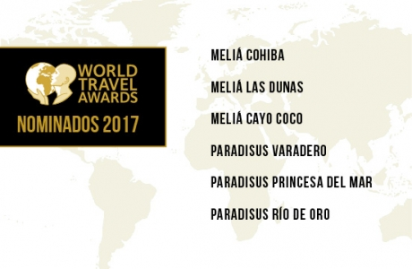 Six hôtels de Meliá Cuba nominés aux World Travel Awards 2017