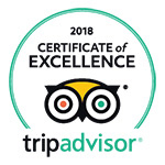 2018 - TripAdvisor: Certificate of Excellence