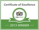 2013 - TripAdvisor: Zertifikat für Excellence