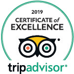 2019 - TripAdvisor: Certificate of Excellence