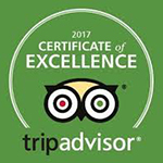 2017 - TripAdvisor: Certificate of Excellence