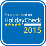2015 - HolidayCheck: Recommended on HolidayCheck