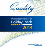 2014 - HolidayCheck: Recommended on HolidayCheck