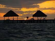 Romantic sunrise stroll along the beach x
