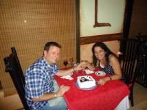 Nuesta cena de aniv y la torta por los 25 años !