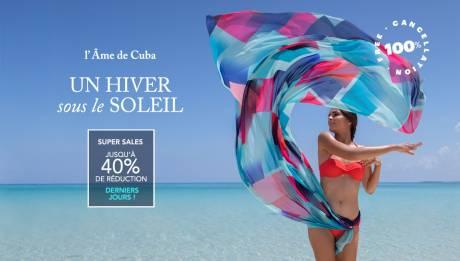 L'hiver le plus chaud avec les super soldes de Meliá Cuba – Jusqu'à 40 % de réduction.