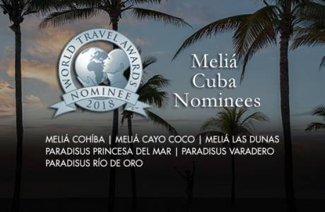 Six Meliá Cuba hotels nominated at the World Travel Awards