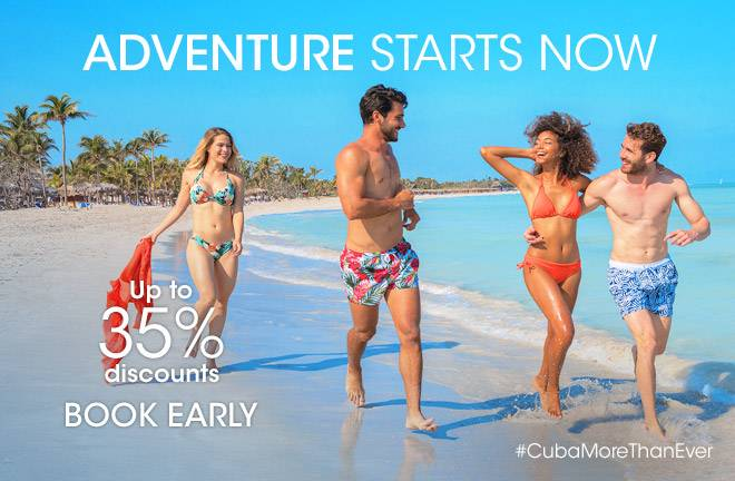 Enjoy up to 35% discount booking in advance with Meliá Cuba