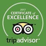 2017 - TripAdvisor: Certificate of Excellence