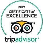 2019 - TripAdvisor: Certificate of Excellence